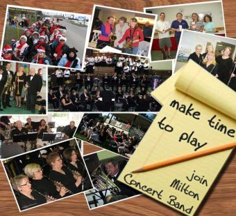 Make time to play.  Join Milton Concert Band